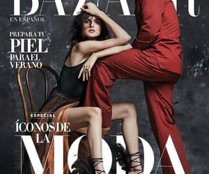 brunette, magazine, and harper's bazaar image