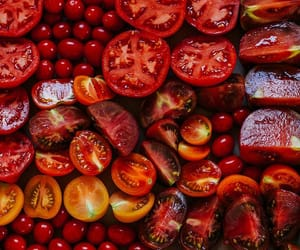 food, tomato, and red image