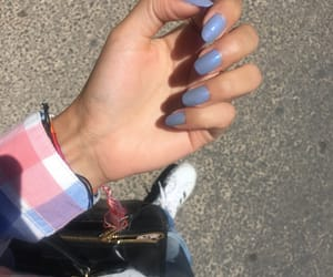 blue, nails, and style image