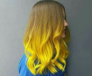 hair and yellow image