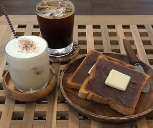 americano, bread, and butter image