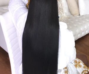 black hair, hair, and inches image