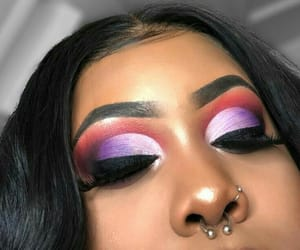 cosmetics, eyebrows, and fashion image