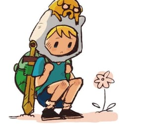 adventure time, finn, and flower image