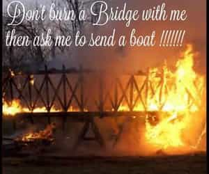 two-faced, burning bridges, and lost cause image