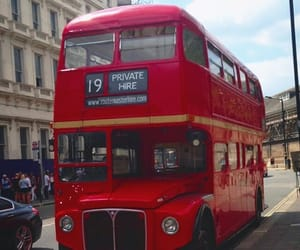 bus, red, and england image