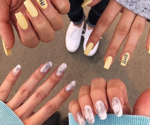 marble, nails, and manicure image