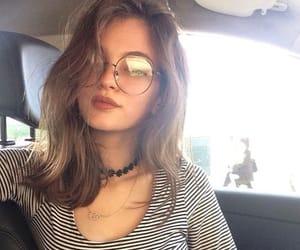 beautiful, girl, and glasses image