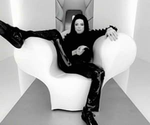 black and white, michael jackson, and mj image