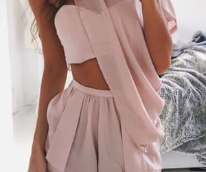 girls, pink, and style image
