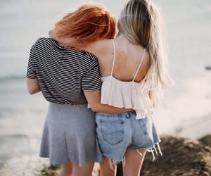 sister, best friends, and friendship image