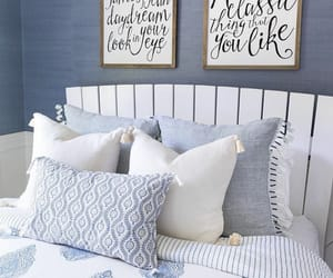 bed, bedroom, and bedroom decor image