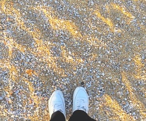 beach, shoelaces, and sneakers image