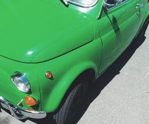 automobiles, fiat, and green image