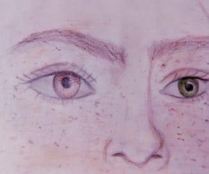 art, eyes, and portrait image