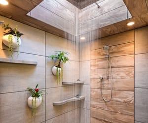 bathroom, shower, and decoration image