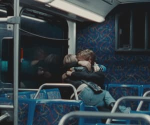 bus, couple, and cuddle image