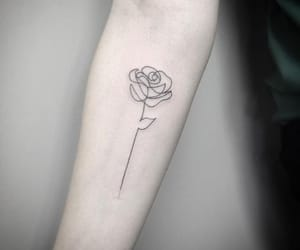 inked, rose, and one image