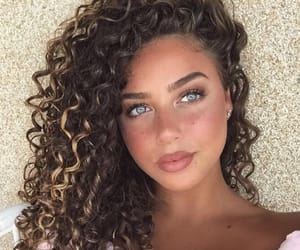 blue eyes, flawless, and curlyhair image