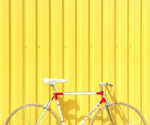 yellow, bike, and wallpaper image