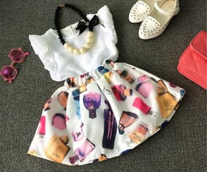 daughter, dress, and girly image