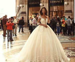 beutiful, bride, and dress image