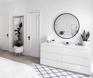 white, decor, and bedroom image