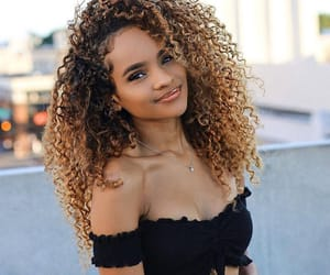 beautiful, girl, and curly hair image