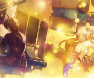 anime girl, couple, and kaori miyazono image