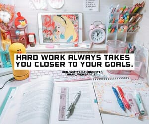 books, goals, and hard work image