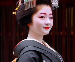 geisha, japan, and kimono image
