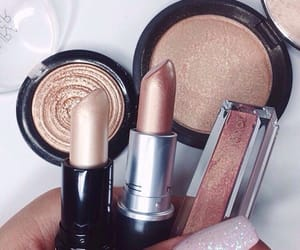 highlighter, bude, and lipstick image