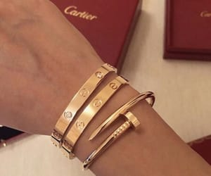 cartier, gold, and fashion image