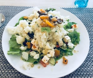 cheese, salade, and dinner image