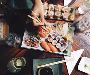 sushi, soya, and yummy image