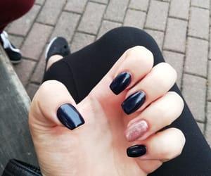 black, dark blue, and manicure image