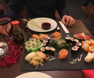 sushi, aesthetic, and theme image