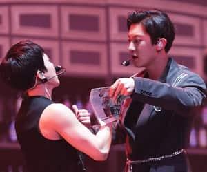 exo, kim min seok, and chanyeol image
