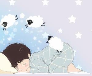 anime, boy, and good night image