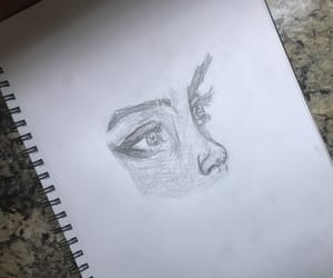 art, eye, and pencil image
