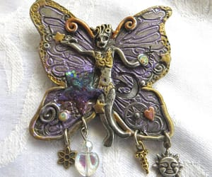 etsy, vintage brooch, and butterfly jewelry image