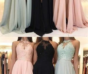 3, pink dress, and black dress image