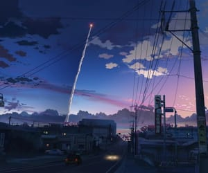 anime, sky, and city image