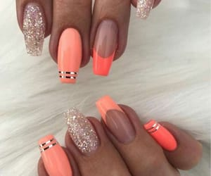gold, long, and nails image