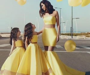 clothes, yellow, and daughter image
