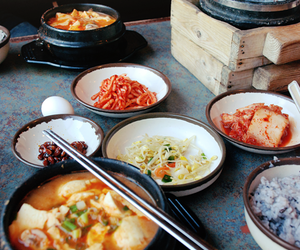 food, korea, and korean food image