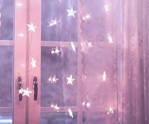 cosy, fairy lights, and stars image