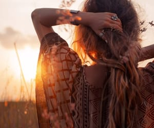 beautiful, sun, and boho image
