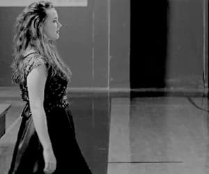 black and white, gif, and hannah baker image