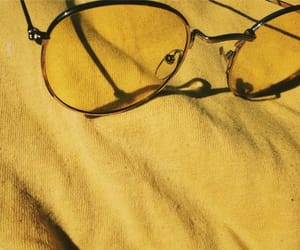 yellow, glasses, and summer image